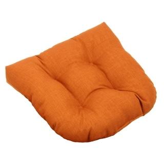 Blazing Needles Tufted Outdoor Spun Poly Chair/Rocker Cushion - 19 x 19