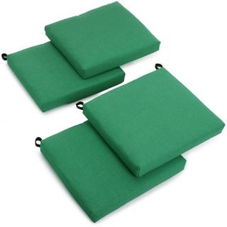 Blazing Needles Outdoor Spun Poly Chair Cushions (Set of 4)