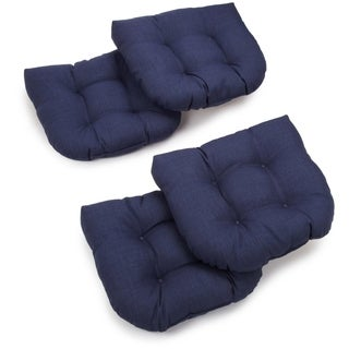 Blazing Needles Outdoor Spun Poly Chair/ Rocker Cushions (Set of 4)