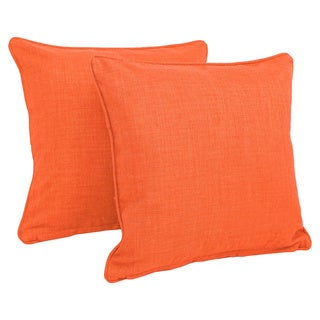 Blazing Needles 18-inch Outdoor Throw Pillows (Set of 2)