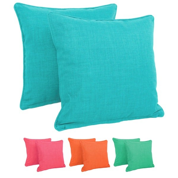 Shop Blazing Needles 17 Inch All Weather Throw Pillow Set Of 2