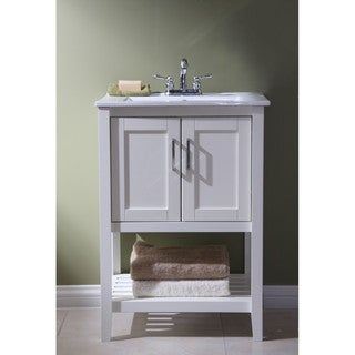 White Bathroom Vanities u0026 Vanity Cabinets - Shop The Best Deals For Apr 2017
