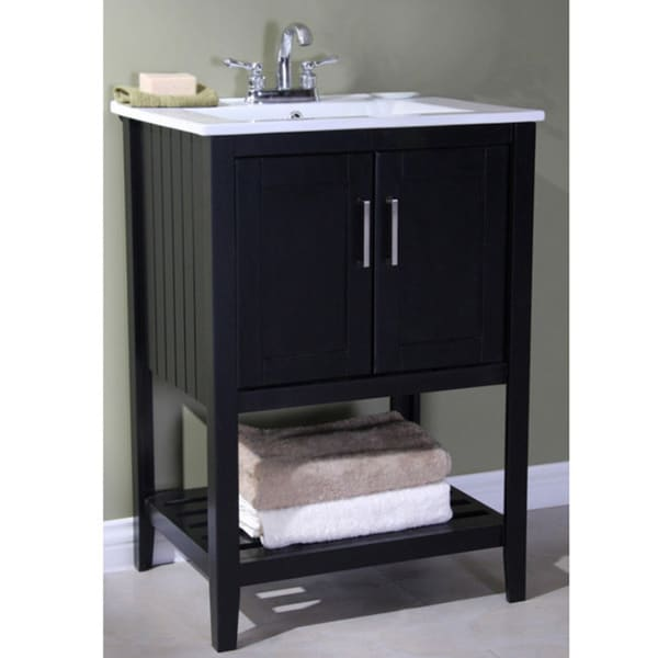 Gentil Legion Furniture Ceramic Top 24 Inch Single Sink Bathroom Vanity