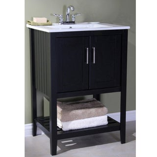 legion furniture ceramictop 24inch single sink bathroom vanity