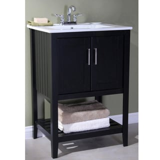 Legion Furniture Ceramic Top 24 Inch Single Sink Bathroom Vanity