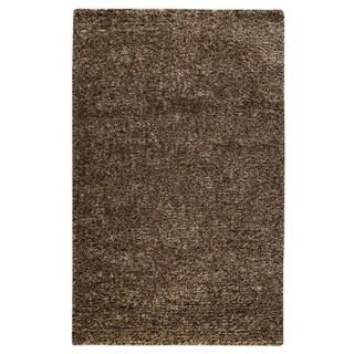 M.A.Trading Hand-woven Malibu Brown Wool Rug (5' x 8')