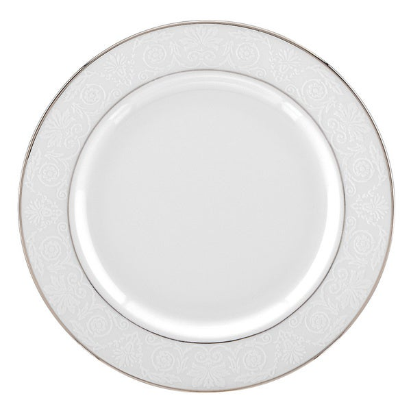 Lenox White and Platinum Artemis Butter Plate