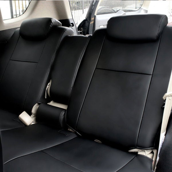FH Group Custom Fit Black Leatherette 2006-2010 Toyota RAV4 Seat Covers (Rear Set)