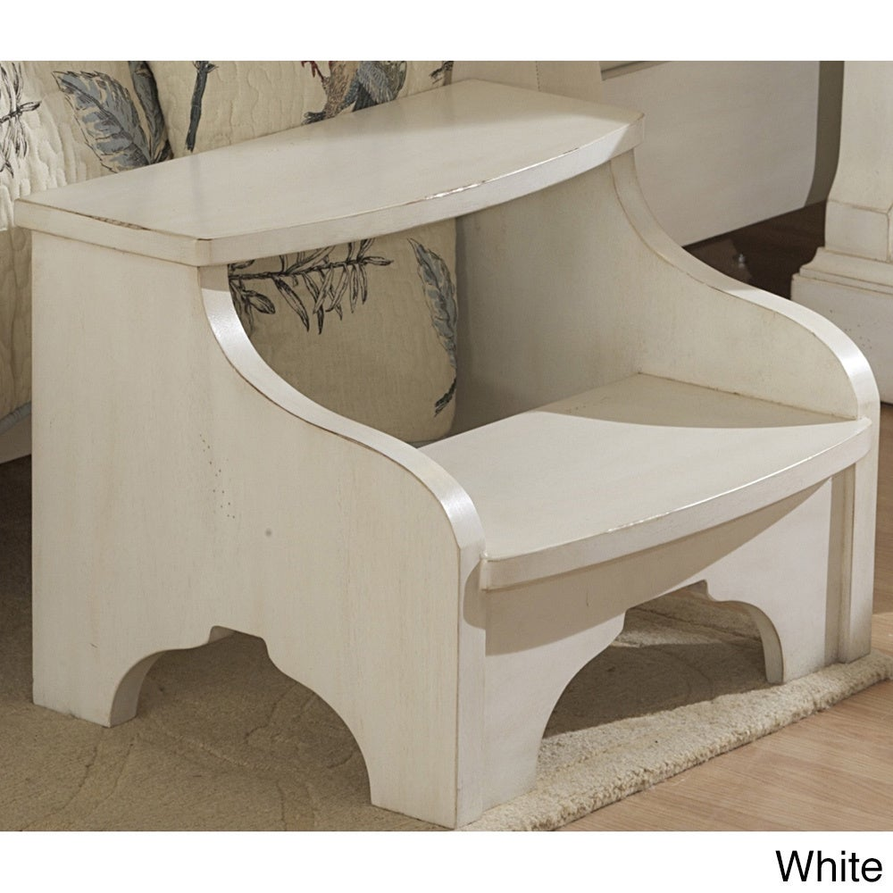 Traditions Antiqued Footstool by Greyson Living (Off-Whit...