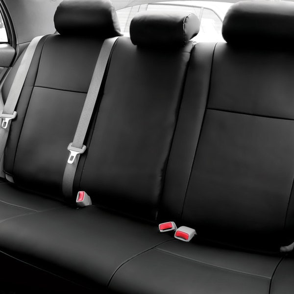 fh group custom fit black leatherette 2009 2011 toyota corolla seat covers rear set free. Black Bedroom Furniture Sets. Home Design Ideas