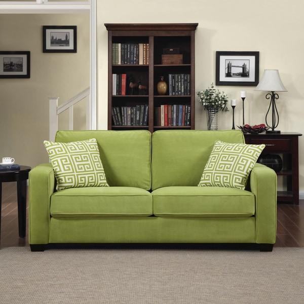 shop portfolio madi spring green velvet sofa with apple. Black Bedroom Furniture Sets. Home Design Ideas