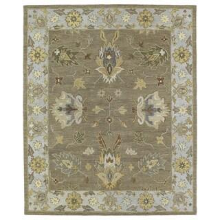 Felicity Casual Khaki Hand Tufted Wool Rug (5'0 x 7'6)