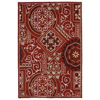 Felicity Red Hand Tufted Wool Rug - 7'6 x 9'