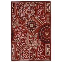 Felicity Red Hand Tufted Wool Rug (5'0 x 7'6)