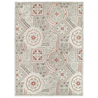 Felicity Grey Hand Tufted Wool Rug (5'0 x 7'6)