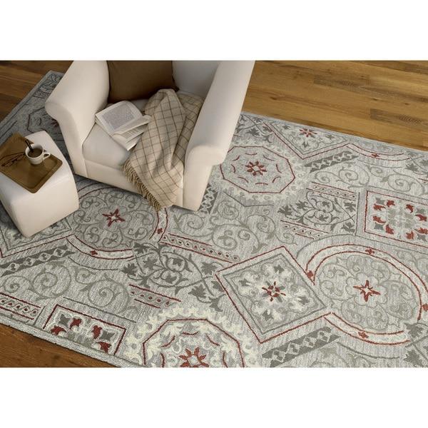 Felicity Grey Hand Tufted Wool Rug (9'6 x 13'0) - 9'6 x 13'