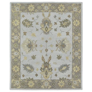 Felicity Casual Light Blue Hand Tufted Wool Rug (7'6 x 9'0)