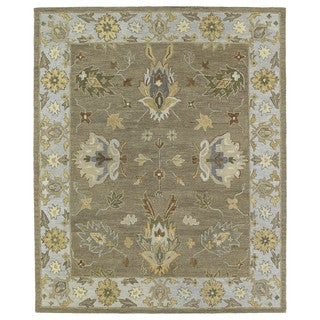 Felicity Casual Khaki Hand Tufted Wool Rug (7'6 x 9'0)