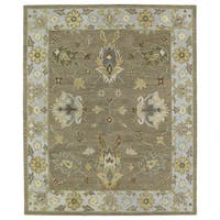 Felicity Casual Khaki Hand Tufted Wool Rug (7'6 x 9'0) - 7'6 x 9'