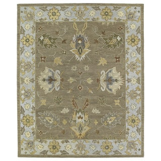 Felicity Casual Khaki Hand Tufted Wool Rug (8'0 x 11'0)