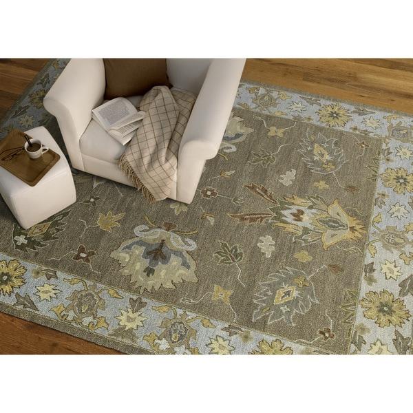 Felicity Casual Khaki Hand Tufted Wool Rug (9'6 x 13'0) - 9'6 x 13'