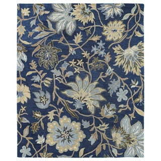 Felicity Navy Hand Tufted Wool Rug (8'0 x 11'0)
