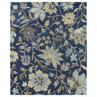 Felicity Navy Hand Tufted Wool Rug - 9'6 x 13'