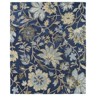 Felicity Navy Hand Tufted Wool Rug (2'0 x 3'0)