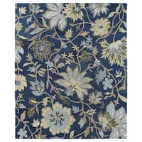 Felicity Navy Hand Tufted Wool Rug - 2' x 3'