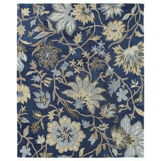 Felicity Navy Hand Tufted Wool Rug (5'0 x 7'6)