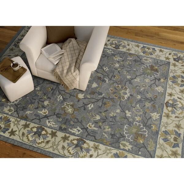 "Felicity Comfort Grey Hand Tufted Wool Rug (5'0 x 7'6) - 5' x 7'6"""