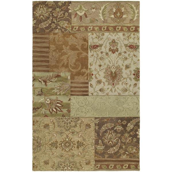 Euphoria Patchwork Multi Tufted Wool Rug (5'0 x 7'9)