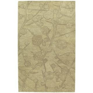 Euphoria Blossom Wheat Tufted Wool Rug (9'6 x 13'0)