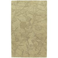 Euphoria Blossom Wheat Tufted Wool Rug - 9'6 x 13'0
