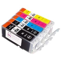 Sophia Global Compatible Canon PGI-250XL Large Black CLI-251XL Small Black, Cyan, Magenta, Yellow Ink Cartridges (Pack of 5)