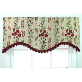 Anne Red Cornince Valance