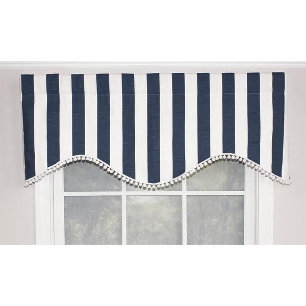 cornice window valance diy rlf home coastal stripe cornice 50 shop