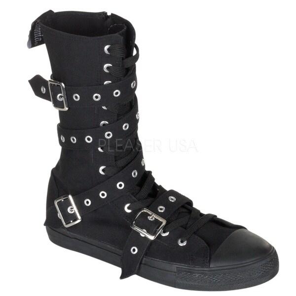 Demonia Women's 'DEVIANT-204' Canvas Calf Sneaker Boots