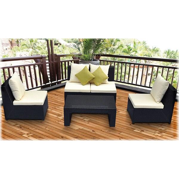 Avalon 4-Piece Armless Lounge Patio Set