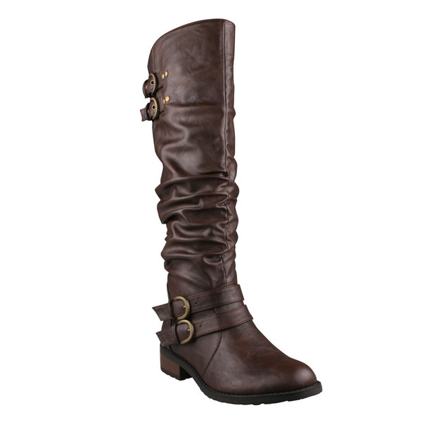 Refresh Women's 'Bailey-03' Brown Knee-high Riding Boots