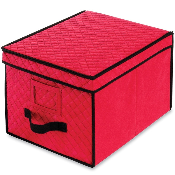 Good Christmas Ornament Storage Box In Red