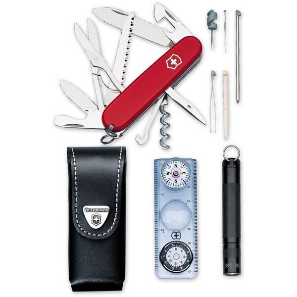 Victorinox Huntsman Traveler Swiss Army Knife Set
