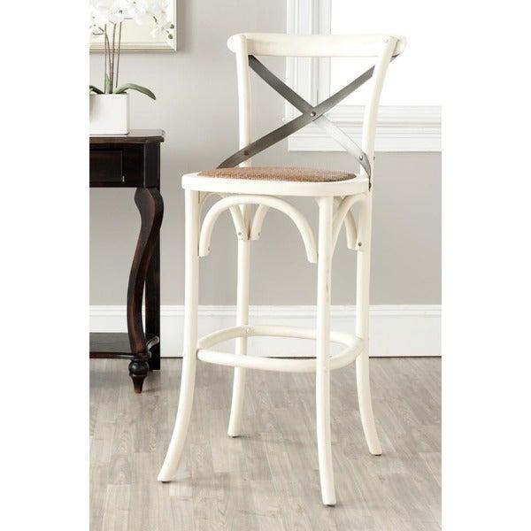safavieh 307inch eleanor ivory oak bar stool