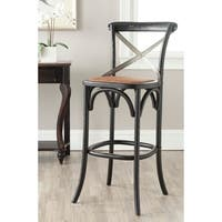 Safavieh 30.7-inch Eleanor Distressed Black Oak Bar Stool