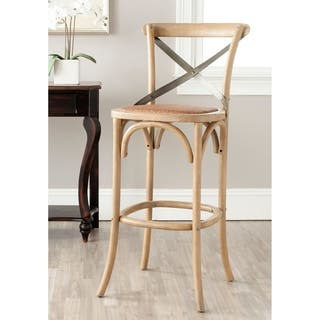 Safavieh 30 7 Inch Eleanor Weathered Oak Bar Stool