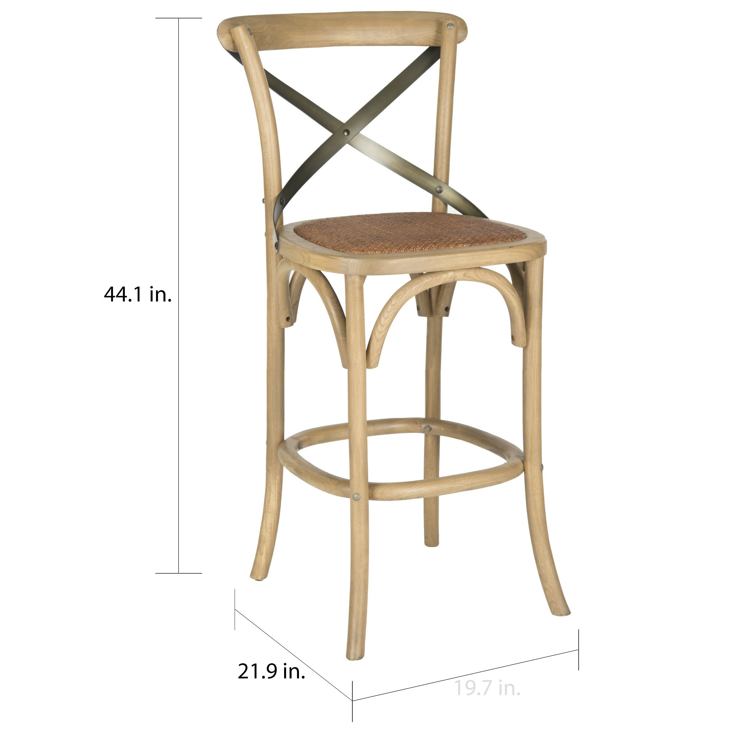 Marvelous Safavieh 30 7 Inch Eleanor Weathered Oak Bar Stool 20 1 X 20 1 X 43 7 Squirreltailoven Fun Painted Chair Ideas Images Squirreltailovenorg