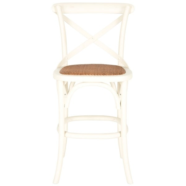 Safavieh 24-inch Franklin X-Back Antique White Counter Stool. Opens flyout.