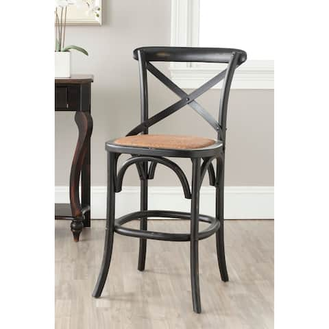 Safavieh 24-inch Franklin X-Back Black Counter Stool