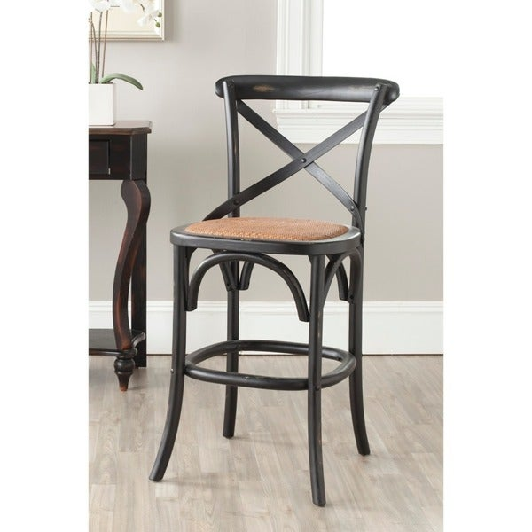 Safavieh 24 4 Inch Franklin Hickory Counter Stool Free