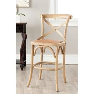 Safavieh 30 7 Inch Franklin Hickory Oak Bar Stool Free